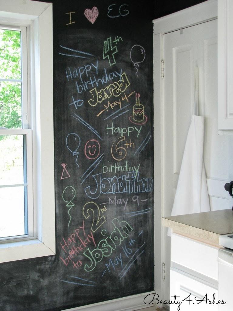 Beauty 4 Ashes: Chalkboard Wall {DIY Art}