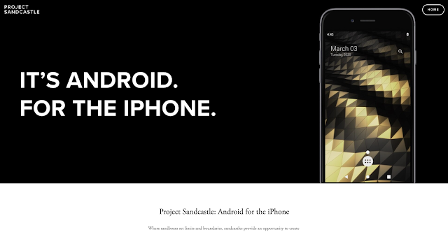 IT'S ANDROID FOR THE IPHONE