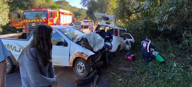 Mãe e filha ficam feridas em grave acidente na BR-487, entre Iretama e Luiziana
