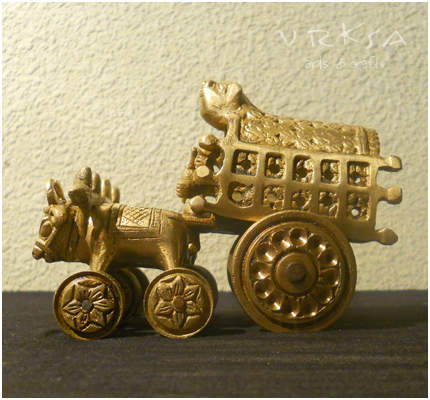 Vrksa Arts Amp Crafts Bullock Cart Brass Sculptures And