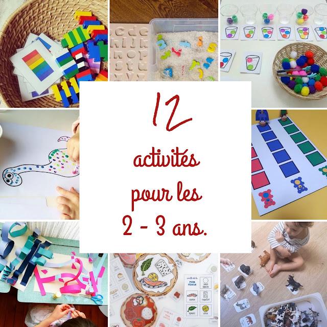 12 activités pour les 2 - 3 ans