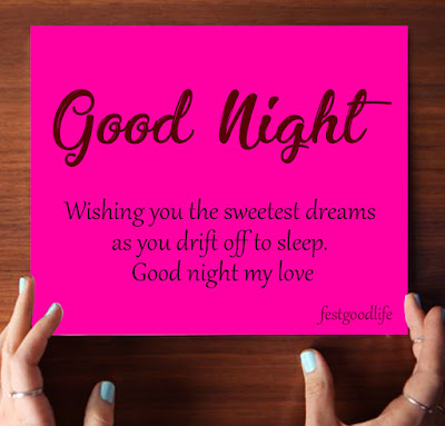 good night wishes in english pic