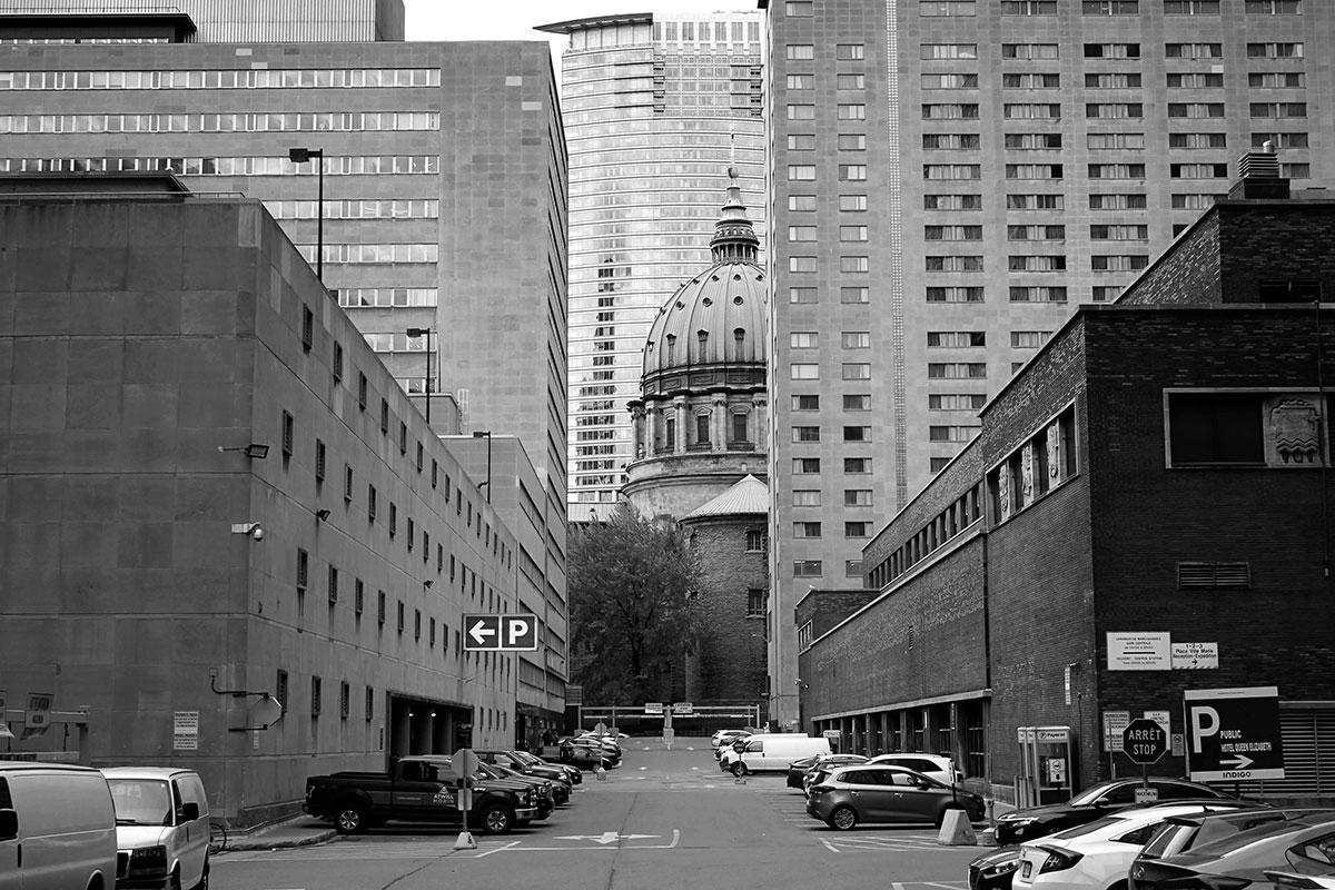Rue et édifices de Montréal