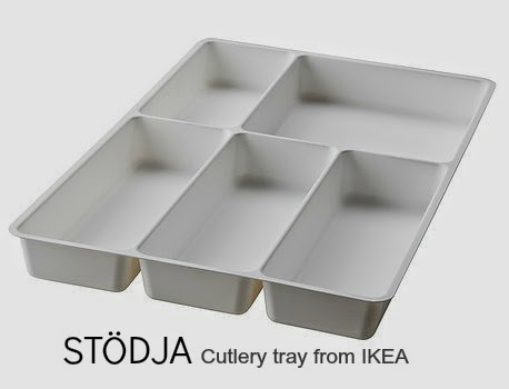 STÖDJA cutlery tray from Ikea makes the perfect home for stationery