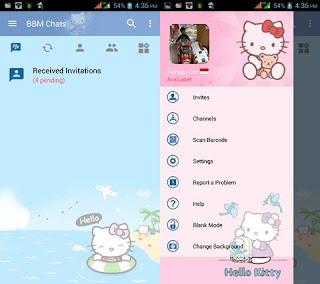 BBM Mod Hello Kitty v3.2.5.12 Terbaru 2017