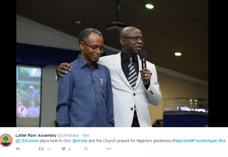 El-Rufia Goes to Church, Nigerians React [SEE MESSAGES]