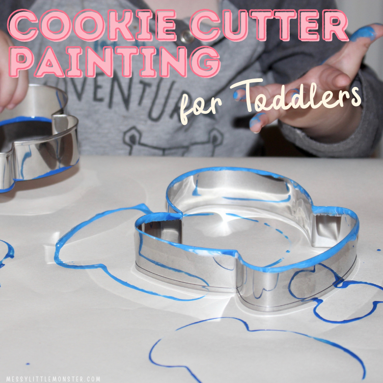 cookie cutter painting for toddlers