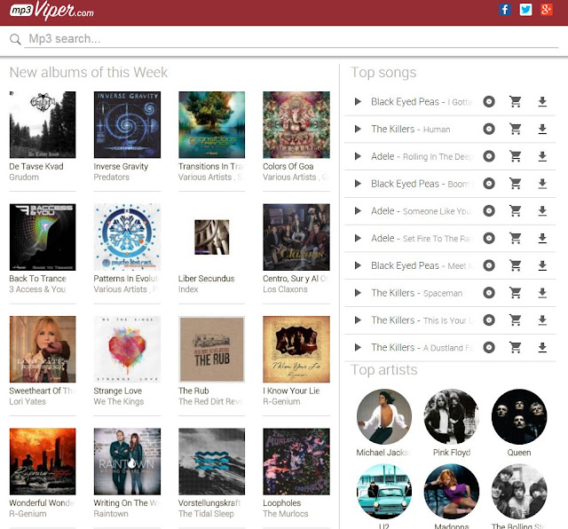 top ten downloading sites for music