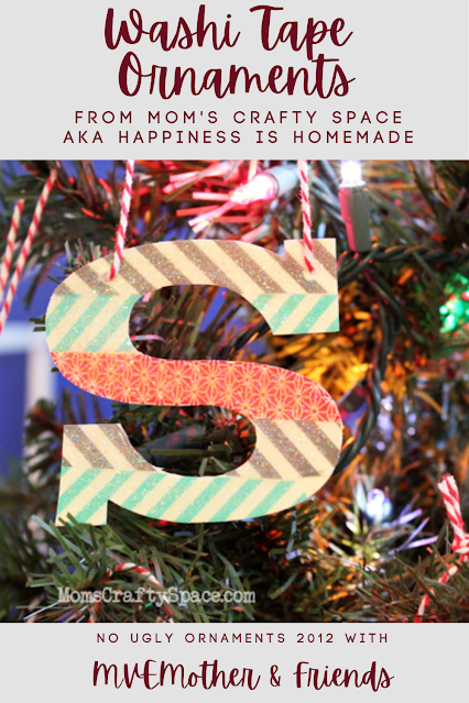 Easy Washi Tape Ornaments Personalized