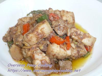 Pork Binagoongan sa Gata Dish