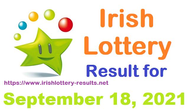 Irish lottery results for September 18, 2021