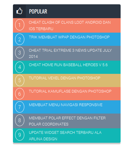 CSS popular post Widget New