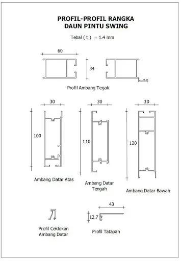 bahan pintu aluminium swing