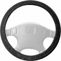 Dash Designs 3342BK Gem Grip Slip-On Solid Black Steering Wheel Cover