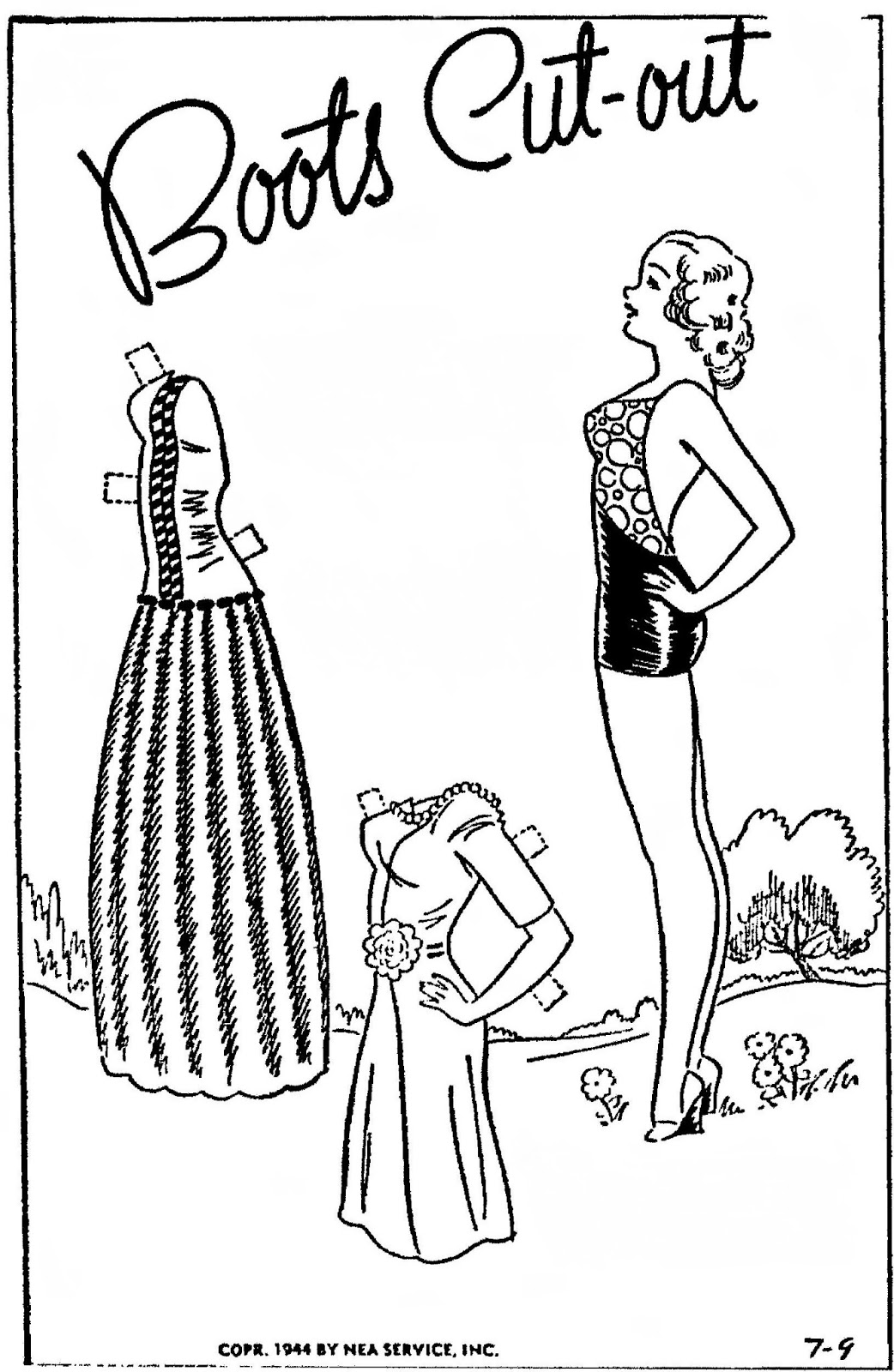 Mostly Paper Dolls Too!: BOOTS Paper Dolls from July 1944