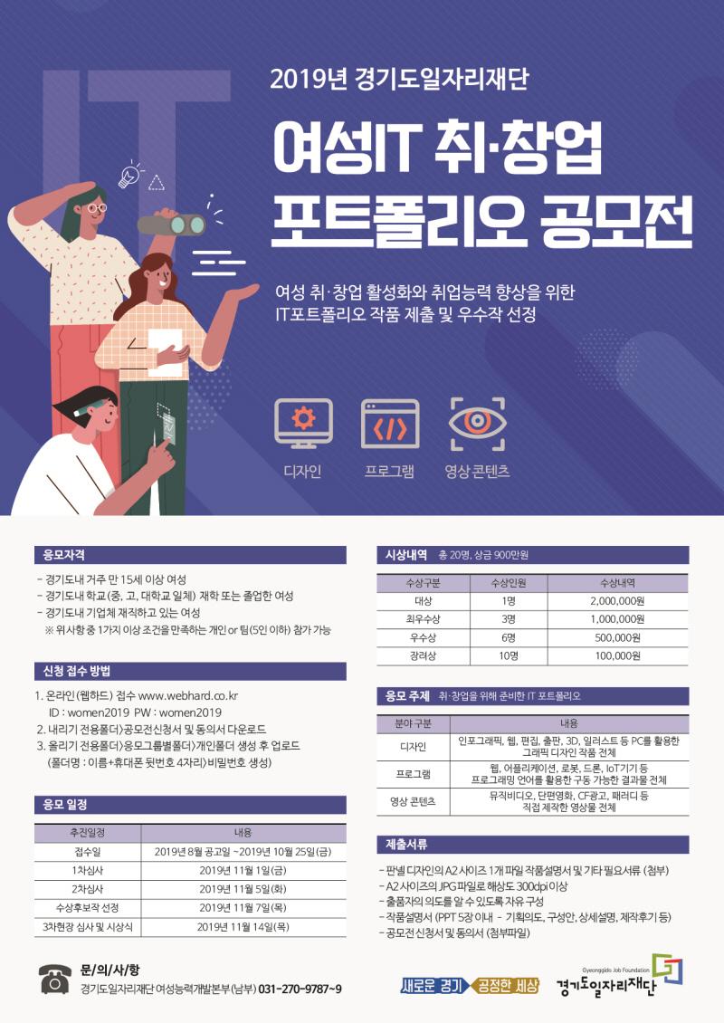 여성IT 취·창업 활성화 위해 '여성IT포트폴리오' 공모