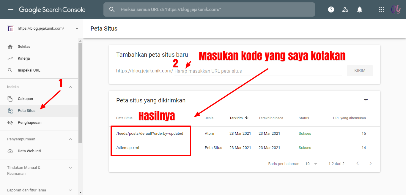 Cara Terbaru Submit Sitemap ke Google Webmasters Tools