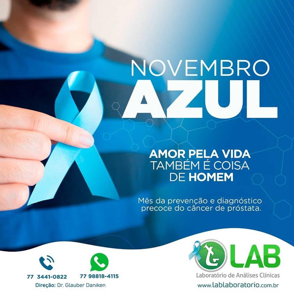 Novembro azul no LAB: saúde do homem e prevenção do câncer de próstata