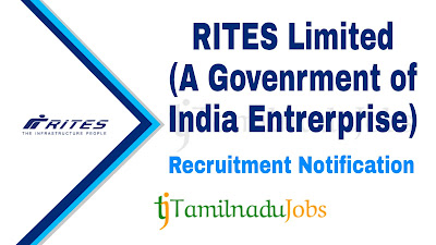 RITES Recruitment notification 2019, govt jobs for graduates, central govt jobs