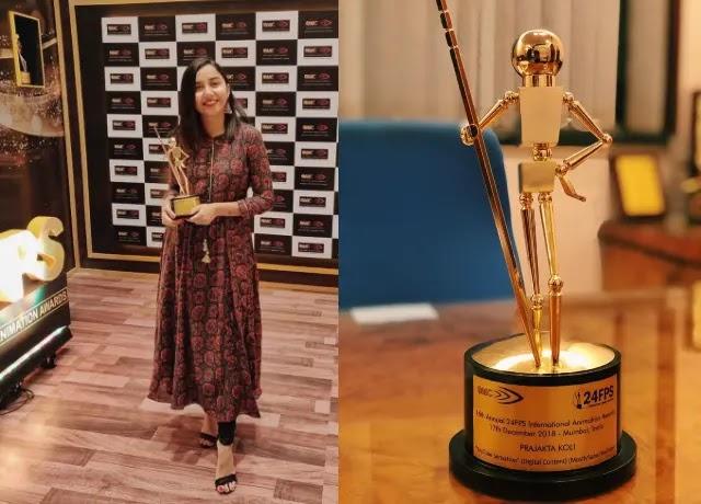 Prajakta Koli Awarded by Machine India