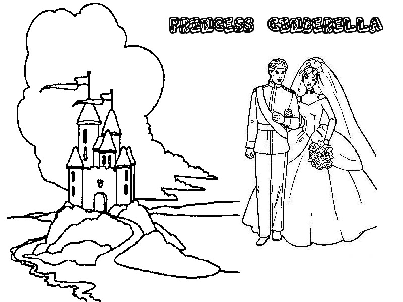 Free cinderella, step-mother coloring pages