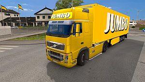 Jumbo trailer + lightbox for Volvo 2009