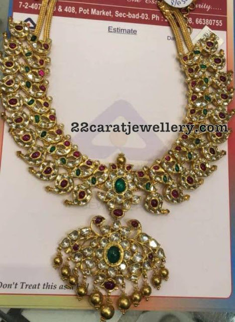 Latest Kundan Mango Necklace