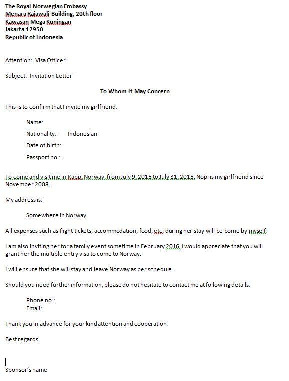 Guarantee Letter Visa Australian