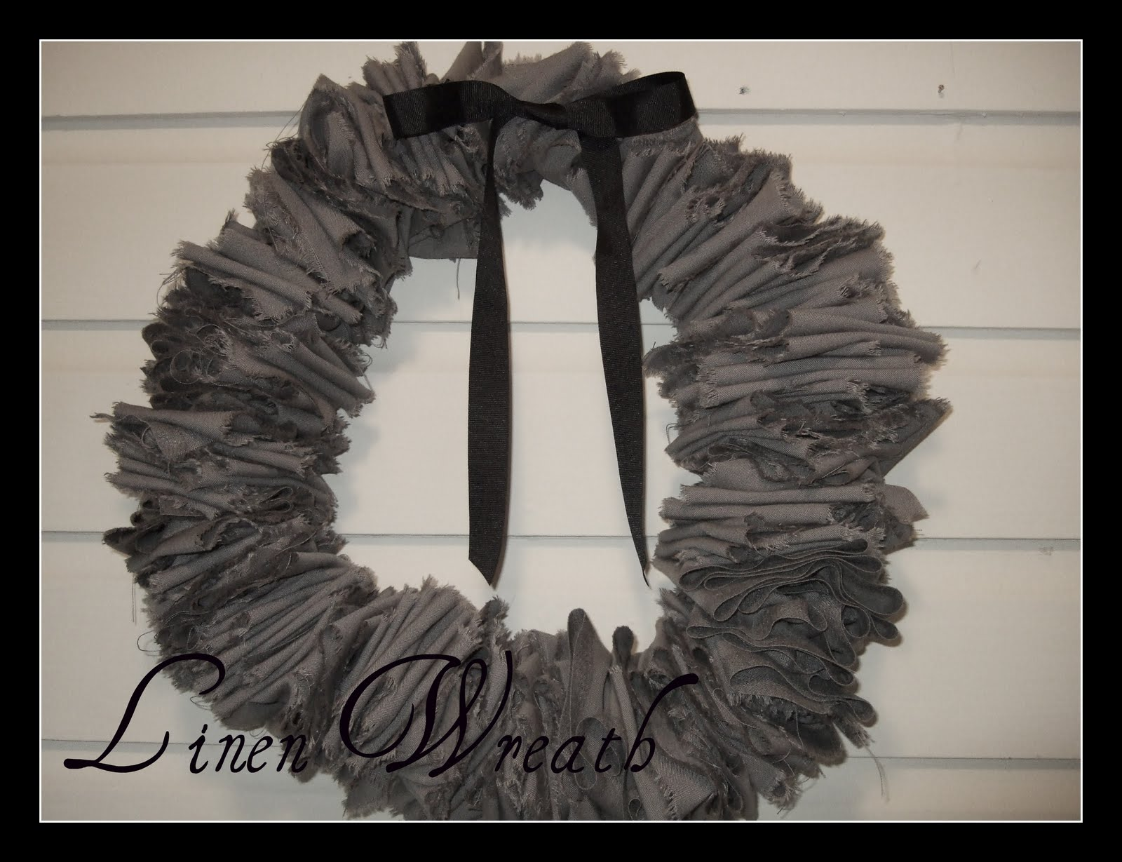 DIY Linen Wreath