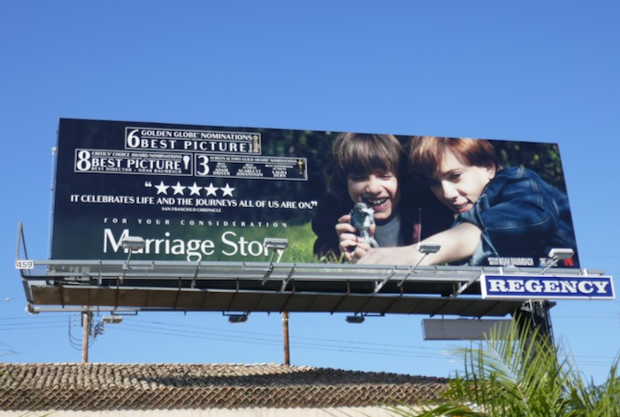 Marriage Story awards consideration billboard