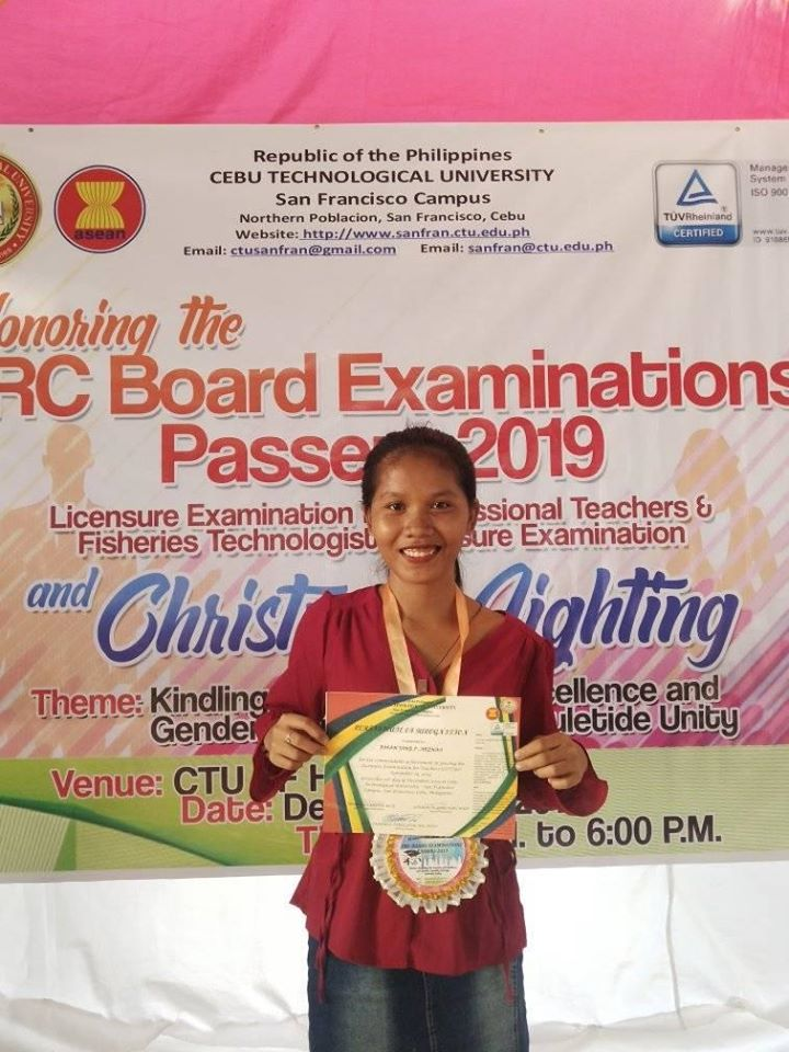 4Ps beneficiary inspires after ranking 10th in teachers' board exam