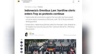 Media China Sebut Habib Rizieq Serukan Massa Lengserkan Jokowi saat Demo UU Cipta Kerja
