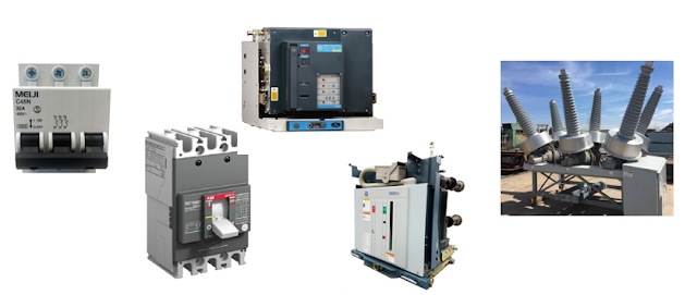 What are the different type of circuit breakers and its uses?
