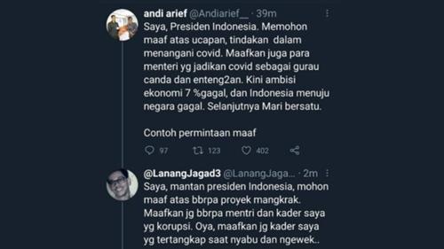 Politisi Demokrat Sindir Jokowi, Netizen: Maafkan Juga, Proyek Mangkrak dan Kader Saya Korupsi