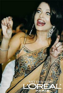 Aishwarya Rai Broad Smile In Saree