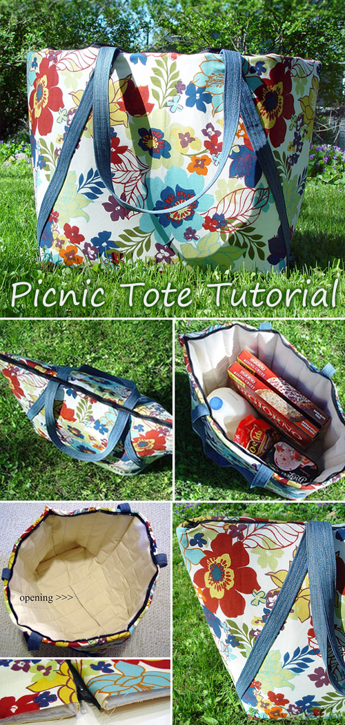 Picnic Tote Bag Tutorial