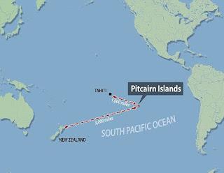 Las Islas Pitcairn en el Océano Pacífico