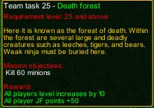naruto castle defense Death forest task detail