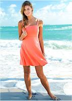 Rochie plajă în culori moderne (bonprix)