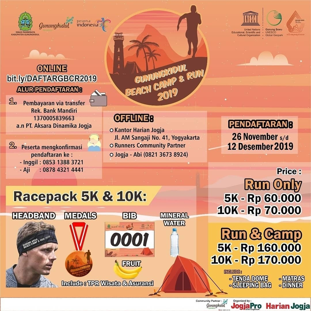 Gunungkidul Beach Camp & Run • 2019