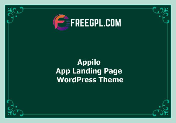 Appilo – App Landing Page WordPress Theme Nulled Download Free