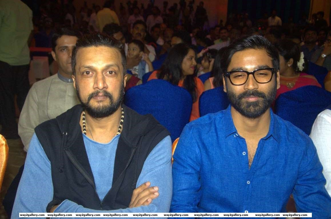 Sudeep and Dhanush graced the audio and trailer launch of Tamil film Mudinja Ivana Pudi