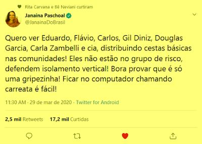 Twitter Janaína Paschoal