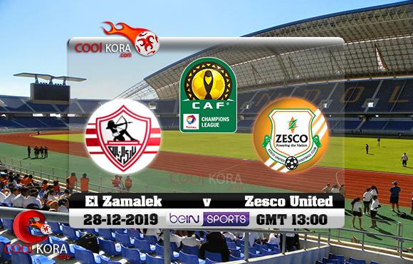مشاهدة مباراة زيسكو يونايتد والزمالك اليوم 28-12-2019 دوري أبطال أفريقيا