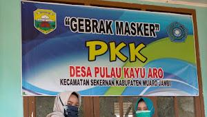 TP-PKK Desa Pulau Kayu Aro Maksimalkan Gebrak Masker Selama Pandemi