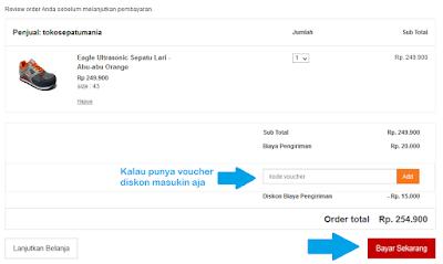 Cara Membeli Barang dan Belanja Online di Mataharimall.com, halaman checkout bayar sekarang