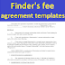 Finder's fee agreement templates to download in word document