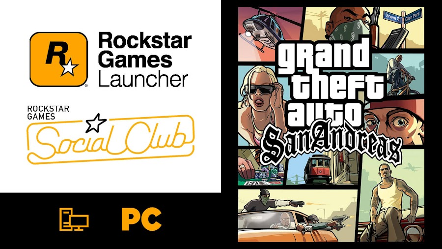 rockstar games launcher pc game free grand theft auto san Andreas