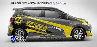 cutting sticker mobil agya 2017