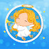 Angel with Trumpet Christmas Clock